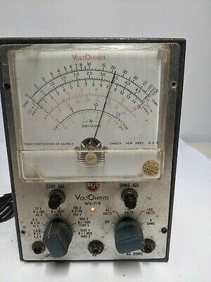 Vintage Rca Voltohmyst Model Wv - 77e Tester