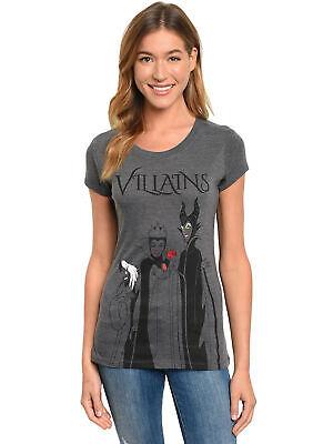 Womens Junior Disney Villains T-Shirt Maleficent Cruella Evil