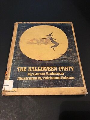 Vtg THE HALLOWEEN PARTY By Lonzo Anderson - 1974 Original - Library Bound - Rare