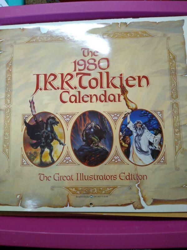 Rare 1980 JRR Tolkien Calendar