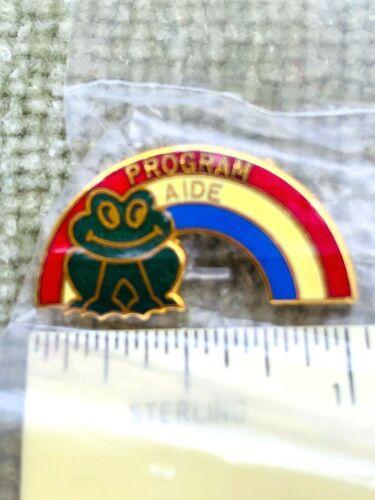 Vintage Girl Scout Pin - Program Aide - NIP 1980s/1990s Frog