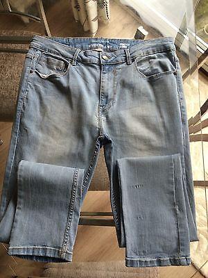 Mens/Boys RIVER ISLAND Stretch Skinny Jeans - Size 34w 32 Leg