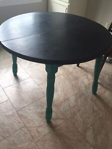 """41"""" diameter round table with 3 chairs."""