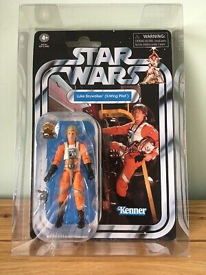 Star Wars The Vintage Collection Luke Skywalker X-Wing Pilot Figure VC158 & Case