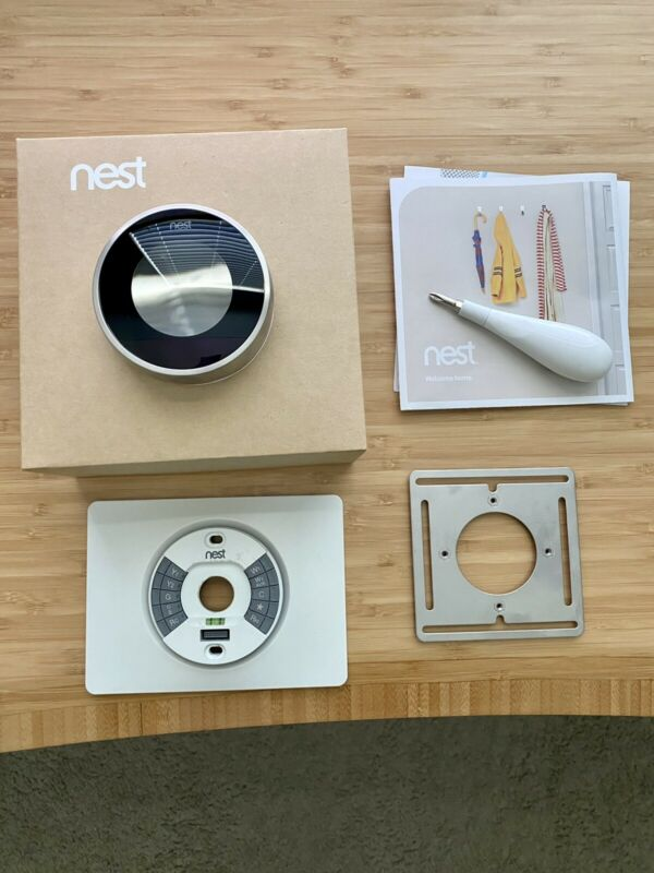 Nest 2nd Generation Learning Silver Programmable Thermostat