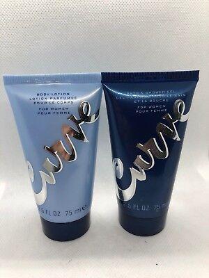 Curve Gel Body Lotion - Curve Shower Gel and Body Lotion Set for Women 2.5 fl oz Each NWOB