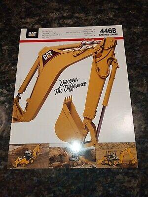 1994 Caterpillar 446 B Backhoe Loader Sales Brochure Cat