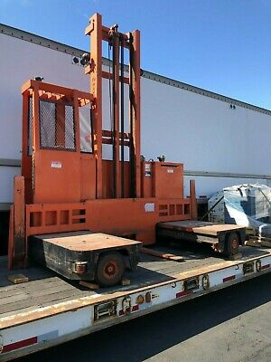 Raymond Electric Forklift Sideloader Model 71-sl60tn - 20 Lift Wide Forks 6000