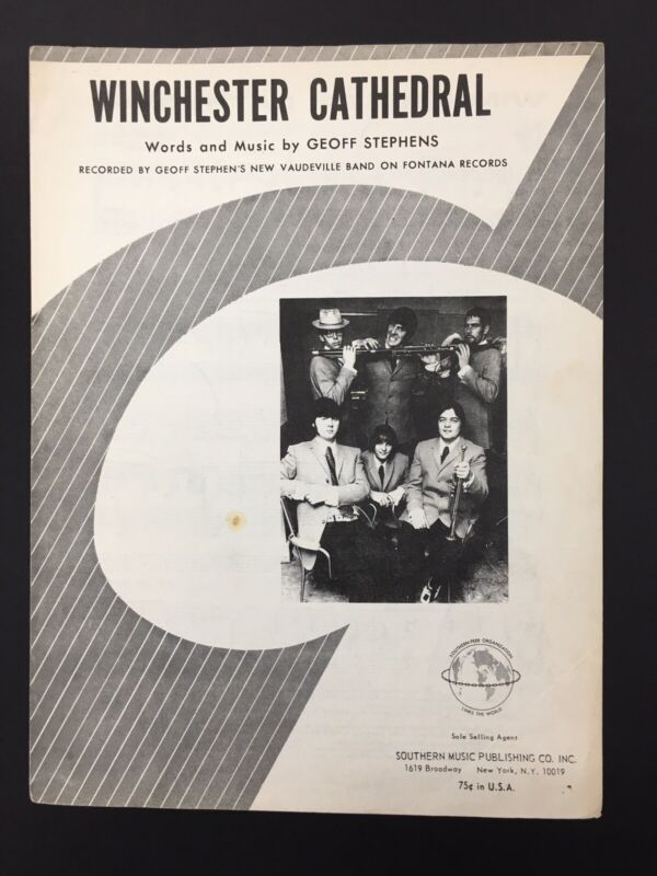 1966 WINCHESTER CATHEDRAL SHEET MUSIC GEOFF STEPHENS NEW VAUDVILLE BAND FONTANA