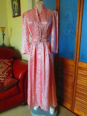 Original Vintage 50s/60s Dressing Gown, Housecoat Sz 10