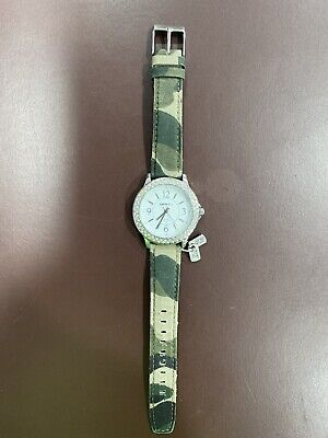 DKNY Watch - Womens/Ladies w/ Camouflage Band Wrist Watch Needs New Battery