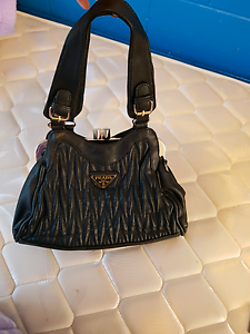 Ladies black leather  hand bag new Westmead Parramatta Area Preview