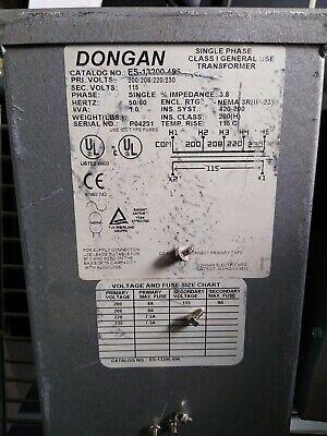 Dongan Es-13200.496 Single Phase Transformer Pri. 200-230v Sec. 115v 1.0 Kva
