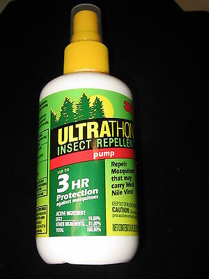 - 3M Ultrathon Insect Mosquito Repellent Pump Up To 3 Hr 6 oz Lot of 1 New