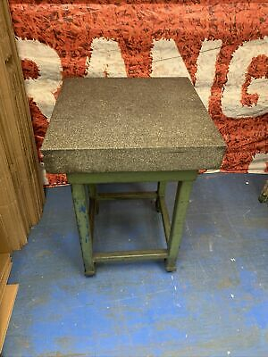 24 X 24 X 4 Granite Surface Plate W Heavy-duty Stand