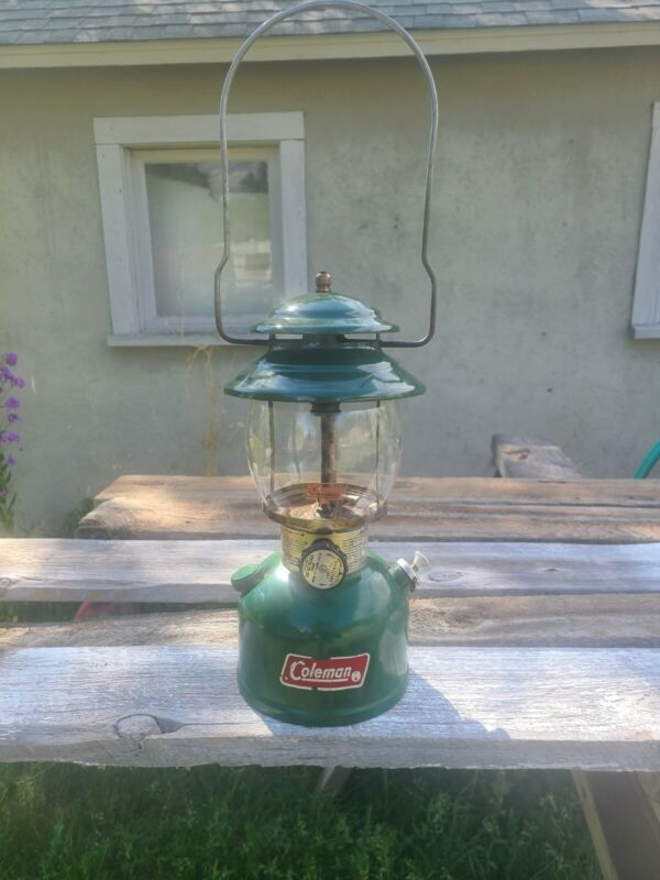Vintage Coleman 200A700 Green Single Lantern Dated 4 - 82