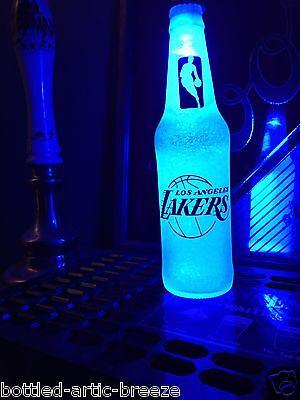 NBA Los Angeles Lakers Basketball 12 oz Beer Bottle Light LED Mens Bar Pub
