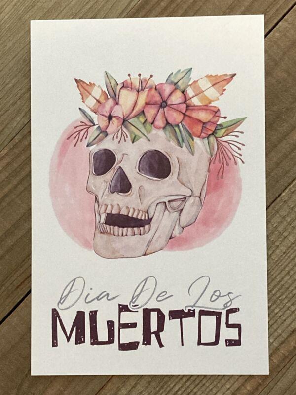 Dia De Los Muertos  Lantern Press Postcard (E216)