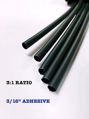 4 Ft. Black 316 5mm Dual-wall Adhesive 31 Ratio Heat Shrink Tubing M230534