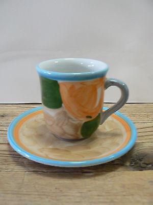 Villeroy & Boch Gallo Design Dekor Orangen Espressotasse mit Untertasse - Orangen-espresso-tasse
