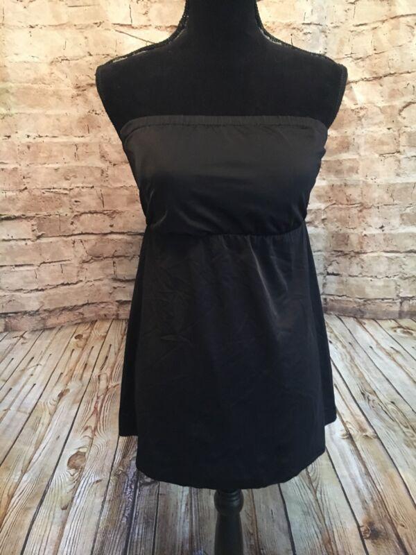 Prego Maternity Black Summer Strapless Swimsuit Top Size Medium