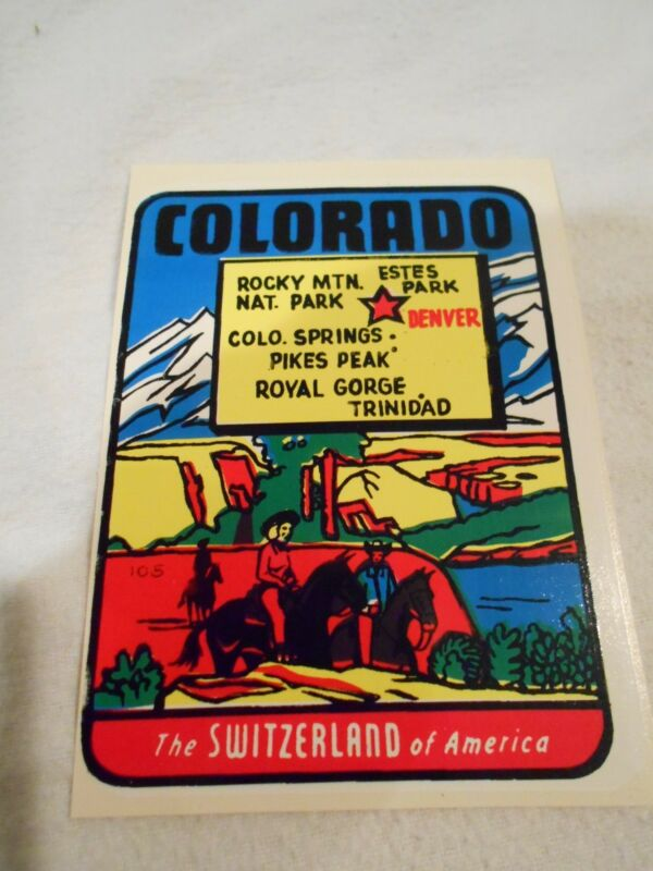 Vintage Car Window Decal-Colorado