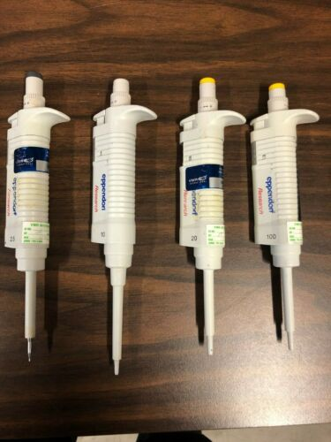 Set of 4 Eppendorf Research Pipettes 2100 Series