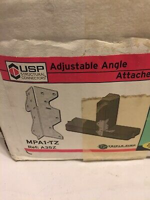 Lot Of 10 - Mpa1-tz- Usp Multi-purpose Adjustable Angle Framing Plate