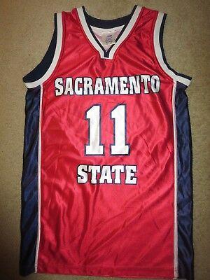 State Hornets Basketball - Sacramento State Hornets #11 Basketball Jersey SM S