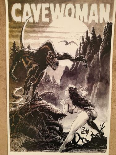 "CAVEWOMAN Creepy #4 Tribute Print (11""x17"") - [Signed by artist Budd Root]"