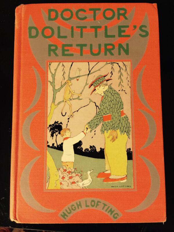 DOCTOR DOLITTLE'S RETURN Hugh Lofting 1933 Hardcover Illustrated Children's Amer
