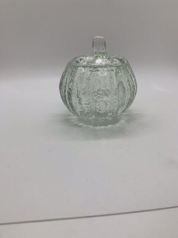 AVON Glass Pumpkin Votive Candle or Trinket Holder