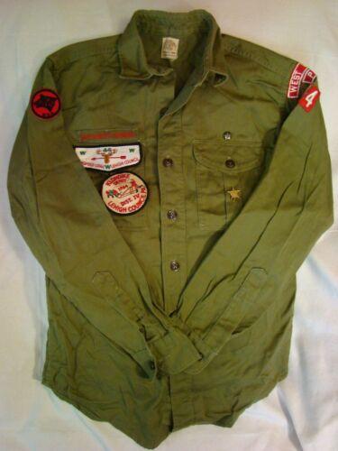 BSA Vintage Boy Scout Uniform Shirt Lehigh Council POHOPOCO 44 W Lehigh PA 84