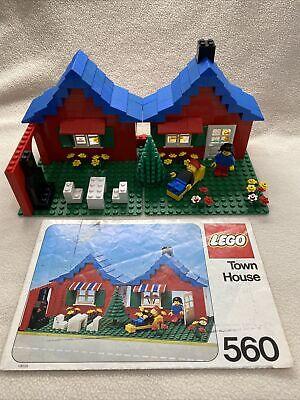 LEGO Vintage TOWN HOUSE #560. 1979. Includes Original Minifigures & Instructions