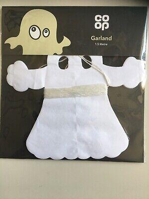 Halloween Ghost Garland 1.5 M BNIP