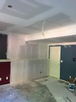 Taping/mudding and sprayed ceilings