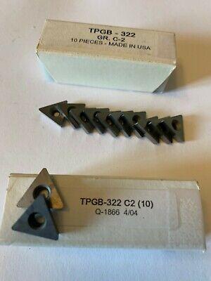 New 10 Pcs. Usa Tpgb 322 C 2 Grade Indexable Carbide Inserts