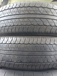 2-225/60R18 Dunlop all season tires