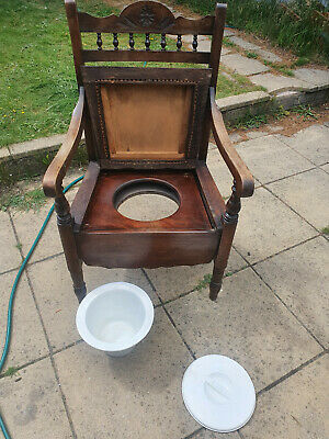 nice Vintage Commode Solid Wood with bowl.west midlands collection thank you