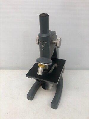 Rare Vintage Bausch Lomb Monocular 10x 43x Compound Microscope