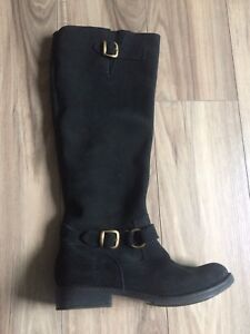 All-leather suede boots - size 7.5