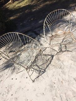 Two Wrought Iron Chairs