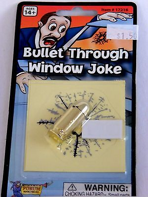 Forum Costume Co Fake Bullet & Bullet Hole Joke Prank Halloween Trick Or Treat  - Halloween Joke Costumes