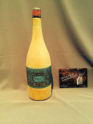 Champagner_XL_Magnum_Parfum 4711_ca.40cm/Bastgeflecht/f. Parfümerie um 1950