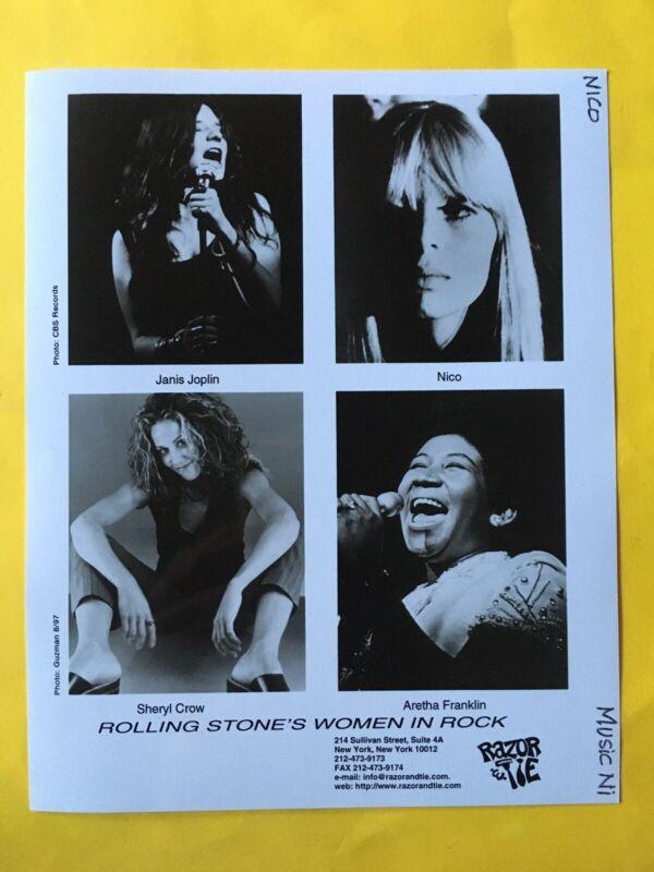 """Women In Rock Press Photo 8x10"""". Janis Joplin, Nico, Aretha Franklin."""