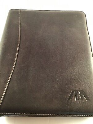 Franklin Quest Dark Brown Nappa Leather Planner Binder 11 X 8.5 Preowned Usa