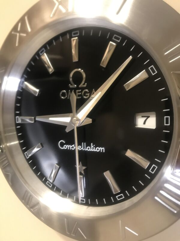 "Omega Constellation 13"" Watch Advertisement Wall Clock"