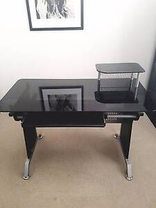 Black glass computer desk in great condition Lilyfield Leichhardt Area Preview