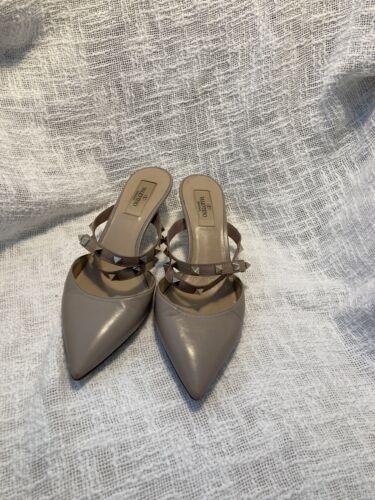 Valentino Rockstud Shoes Nude Heels Size 38 EUR