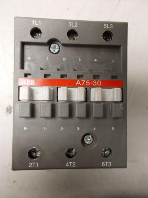 ABB A75-30, 3 Pole, 125 Amp Motor Starter, 110/120V Coil